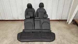 2019 Alfa Romeo Stelvio Seats Front Rear Left Right Black Leather Dual Power Oem