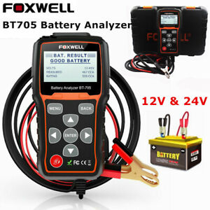 12v 24v Battery Load Tester Foxwell Bt705 Analyzer For Cars And Heavy Duty Truck