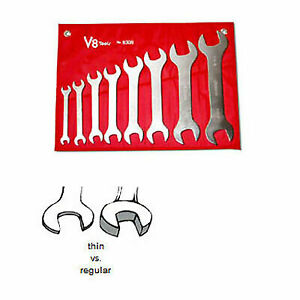 V8 Tools 8308 Super Thin Open End Wrench Set 8 Piece 3 8 To 1 5 16