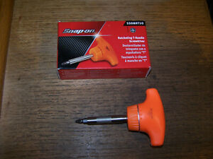 New Snap on Orange Stubby Hard T handle Ratcheting Screwdriver Bit Ssdmrt1o