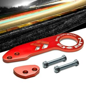 Nrg Innovations Red Tow 110rd Rear Offset Ring Universal Aluminum Tow Hook Kit