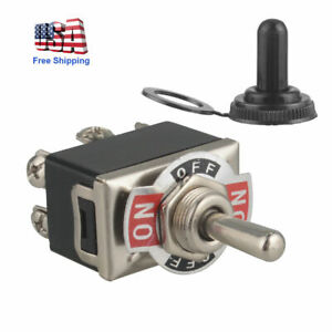 Heavy Duty 250v Toggle Switch Control Dpdt 2 Pole Double Throw 6 Term On off on