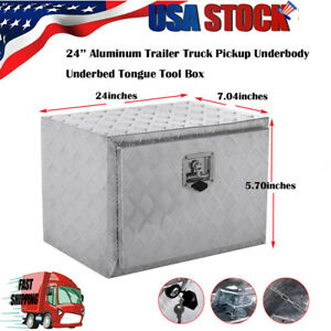 New 24 Inch Heavy Duty Aluminum Tool Box For Truck Pick Up Trailer Home Storage