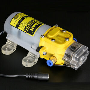 High Pressure Self Priming Sprayer Pump 12v 60w Diaphragm Water Pump converter