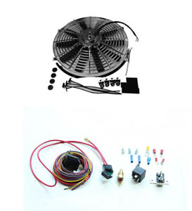 Chrome 14 Electric Straight Blade Reversible Cooling Fan 12v 1900cfm