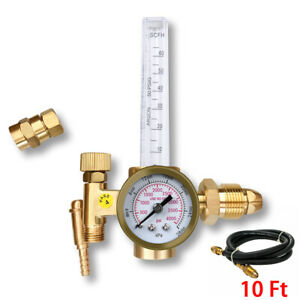 Htp Argon Co2 Mig Tig Flow Meter Regulator Welding Weld Gauge Gas Welder W Hose