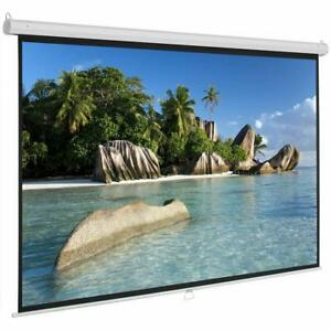 Leadzm 84in 16 9 Hd Pull Down Manual Projector Screen White