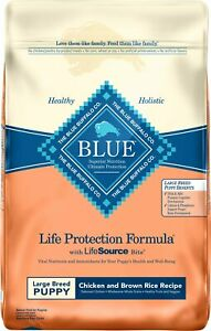 Blue Buffalo Large Breed Puppy Chicken Brown Rice Recipe Dry Dog 30lb