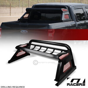 For 2019 2020 Dodge Ram Matte Black Chase Rack Truck Bed Roll Bar cargo Basket