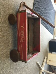 COCA-COLA WOODEN CRATE WAGON