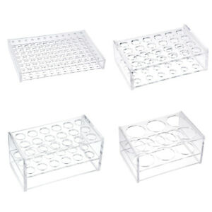 All Sizes Test Tube Rack Holder Polypropylene Lab Testing Tube Stand Bracket