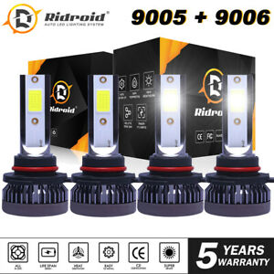 Mini 9005 9006 Combo Led Headlight Kit 3200w 520000lm Hi Lo Beam Bulbs 6000k