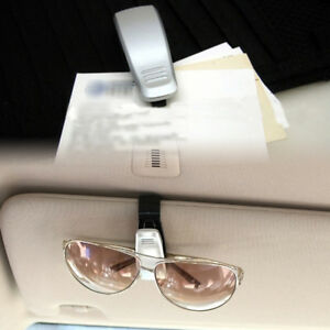 Gray Silver Car Sun Eye Glasses Glass Shield Visor Card Holder Clip Tool Carrier