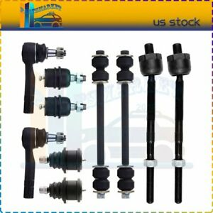 10pcs Front Ball Joints Tie Rods Set For 2001 2005 Explorer Sport Trac Rwd