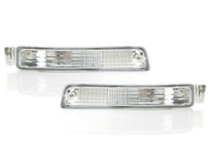 Clear Front Bumper Turn Signal Light Lamps Pair For 1995 1996 Toyota Camry