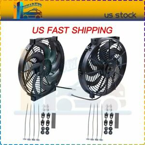 14 Inch Electric Radiator Cooling Fan For 07 15 Lexus Gs350 Mazda Cx 5 Cx 9