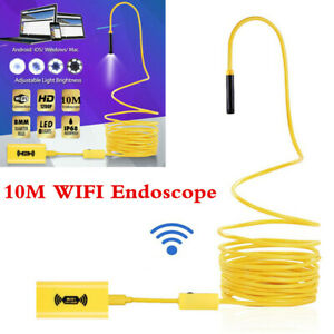 10m 8led Wifi Endoscope Borescope Inspection 1200p Camera Ip68 For Ios Android