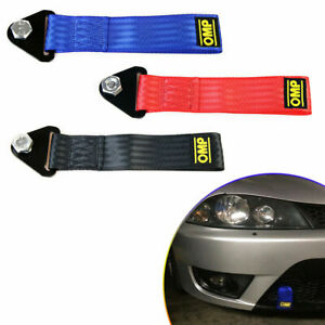 Red High Strength Racing Tow Strap Set For Front Rear Bumper Towing Hook Ne U4k6