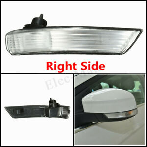Right Wing Mirror Indicator Turn Signal Light Len Cover For Ford Focus