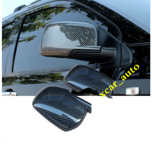For Dodge Journey Fiat Freemont 2013 17 Carbon Fiber Abs Rearview Mirrors Cover