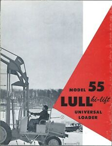 Fork Lift Truck Brochure Lull Model 55 And Fold out 77 88 Photo lt352