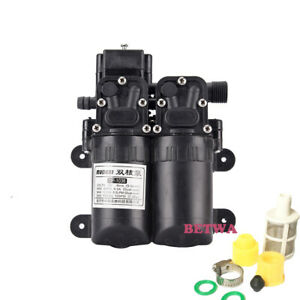 100w Double Head 105psi High Pressure Water Pump 12v Sprayer Pump 5 5l m