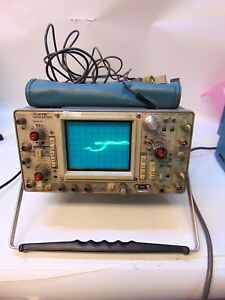 Tektronics 475 Oscilloscope With Cables Tee P6106 P6121 S4249