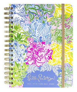 Lilly Pulitzer Large Aug 2019 Dec 2020 17 Month Hardcover Agenda 8 88 X To