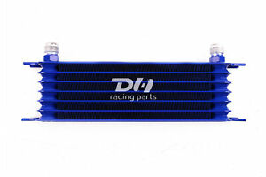 High Performance Racing Remote Engine Transmission 7row 10an Oil Cooler Kit Blue