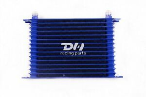15 Row 10an Oil Cooler Blue High Performance Racing Remote Engine Transmission