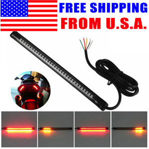 7 Flexable Integrated Motorcycle Led Tail Brake Turn Signal Light Strip