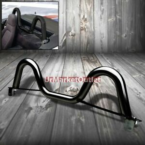 4 point Stainless Black Dual Twin Hoop Roll Bar For Mazda 89 98 Miata Mx5 Mx 5