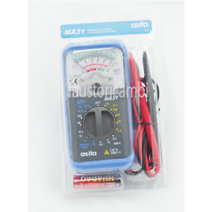 Tester Asita Ma31 Analogic Multimeter Pocket Electrician