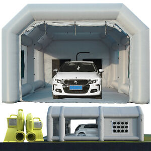 26x13x10ft Inflatable Spray Paint Booth With 2 Blowers Mobile Portable Car Tent