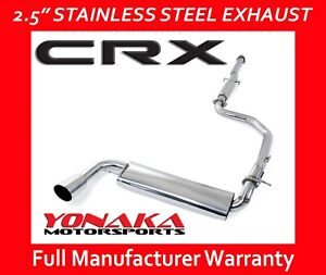 Yonaka Catback Exhaust 88 91 Honda Crx Exhaust System Stainless Steel