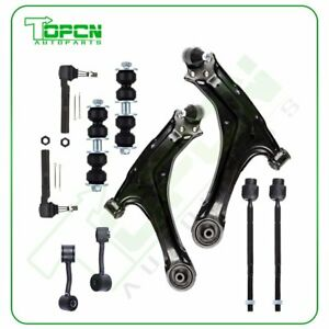 For 1997 2003 Chevy Malibu 10pcs Front Lower Control Arms Outer Tie Rod Ends