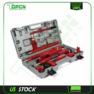 Power Hydraulic Jack 10 Ton Porta Body Frame Repair Kits Auto Car Tools Lift Ram