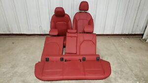 2019 Alfa Romeo Stelvio Seats Front Rear Left Right Red Leather Dual Power Oem