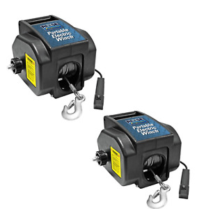 2 Pack Reese Towpower Portable Electric Winch 20 Power Cord High Carbon Steel