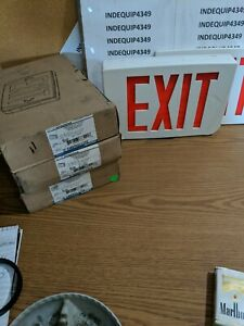 Thomas Betts Thermoplastic Ac Red Led Emergi lite Exit Sign Ecl4r N0 Battery