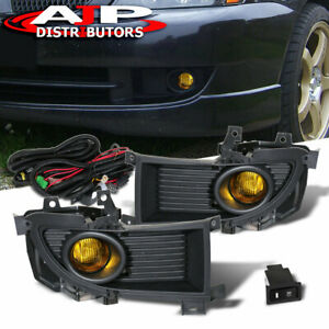 Amber Driving Bumper Fog Lights Lamps Pair Wiring Switch For 2004 2006 Lancer
