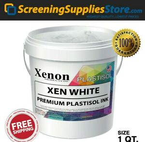 Xenon Xen White Plastisol Ink For Silk Screen Printing 1 Quart