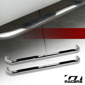For 2001 2003 Ford F150 Super Crew Cab 3 Side Step Nerf Bars Boards Hd Chrome