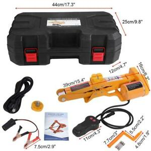 2ton 12v Dc Automotive Car Garage Electric Jack Tool Set And Emergency Eq