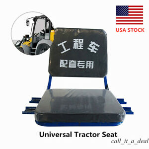 Brand New Universal Tractor Seat For Forklift Mower Digger Black Usa Stock