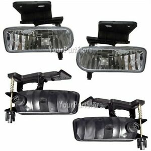 99 02 Chevy Silverado Pickup Pu Truck Fog Lights Foglight Fog Lamps Set Pair