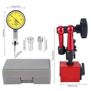 Dial Test Indicator 0 0 8mm High Precision Gauge With Flexible Base Holder Stand