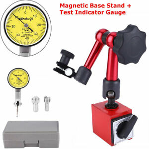 0 0 8mm Dial Test Indicator Gauge Scale Precision W Flexible Base Holder Stand