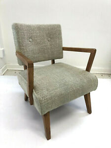 Mid Century Modern Rocker Lounge Chair Upholstered Heywood Wakefield Arm Side 50
