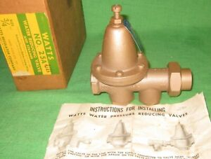 Watts 3 4 Bronze Water Reducing Valve No 25a new Old Stock ships Free